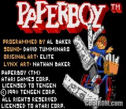 Paperboy Rom Download For Atari Lynx Coolrom