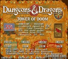 Dungeons & Dragons - Tower of Doom ROM Download for CPS2 - CoolROM com
