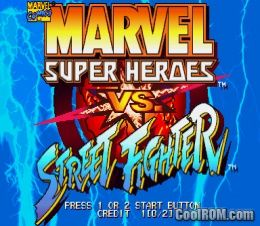 Marvel Super Heroes vs  Street Fighter ROM Download for CPS2