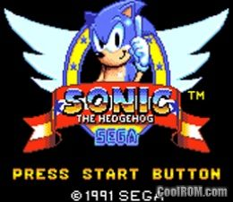 Sonic The Hedgehog Rom Download For Sega Game Gear Coolrom Com