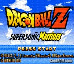 dbz supersonic warriors gba fr