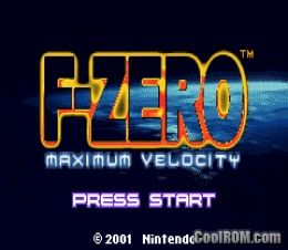 F zero maximum velocity rom download for gameboy advance for Cool roms