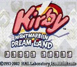 kirby nightmare in dreamland gba rom