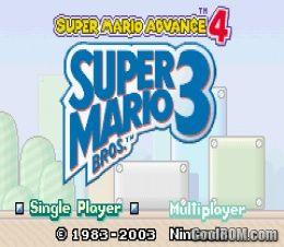 Super Mario Advance 4 - Super Mario Bros  3 ROM Download for