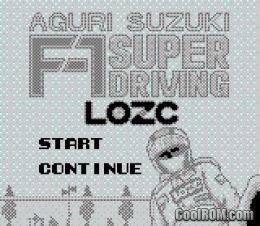 Aguri Suzuki F  Super Driving Gameboy