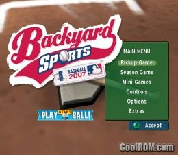 backyard sports baseball 2007 rom iso download for
