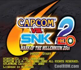 Capcom vs  SNK 2 EO - Millionaire Fighting 2001 ROM (ISO