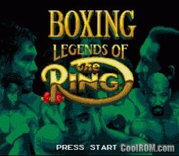 Boxing Legends of the Ring ROM Download for Sega Genesis