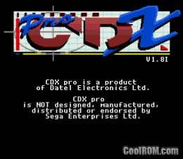 CDX Pro BIOS V1 8I ROM Download for Sega Genesis - CoolROM com