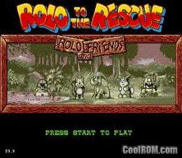 Rolo to the Rescue ROM Download for Sega Genesis - CoolROM com