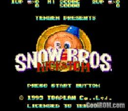 Snow Bros  - Nick & Tom (Japan) ROM Download for Sega Genesis
