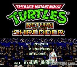 Teenage Mutant Ninja Turtles - Return of the Shredder (Japan