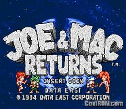 Joe & Mac Returns (World, Version 1 1, 1994 05 27) ROM