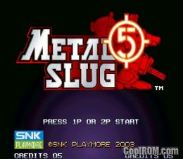 Metal Slug 5 (NGM-2680) ROM Download for MAME - CoolROM com