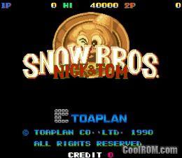 Snow Bros  - Nick & Tom (set 1) ROM Download for MAME - CoolROM com