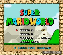 Super Mario World (Nintendo Super System) ROM Download for