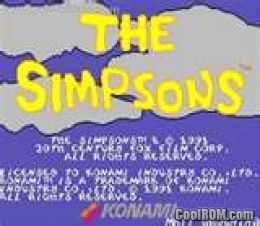 The Simpsons (2 Players World, set 1) ROM Download for MAME