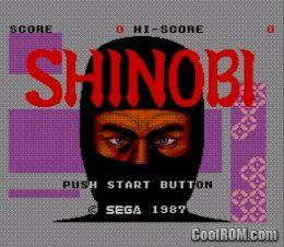 1987 SHINOBI TÉLÉCHARGER JEUX