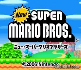 New Super Mario Bros  (Japan) ROM Download for Nintendo DS