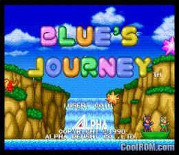 Blue's Journey ROM (ISO) Download for Neo Geo CD - CoolROM com
