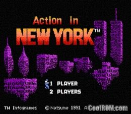 Action in New York (E) Rom Download for NES at ROMNation.NET