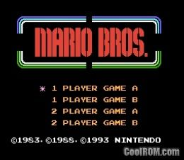 Mario Bros  Classic (Europe) ROM Download for Nintendo / NES