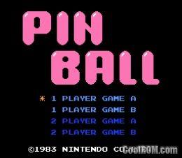 Pinball ROM Download for Nintendo / NES - CoolROM com