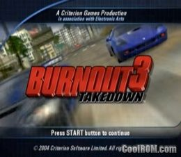 Burnout 3 - Takedown (Europe) (Fr,De,It) ROM (ISO) Download for Sony