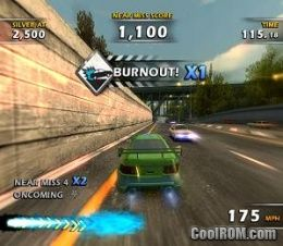 Burnout Dominator ROM (ISO) Download for Sony Playstation 2 / PS2