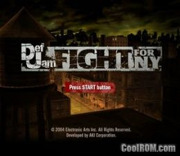Def Jam - Fight for NY ROM (ISO) Download for Sony
