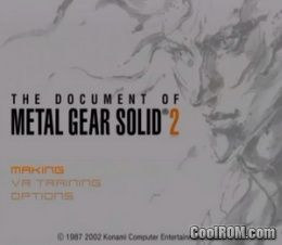 Document of Metal Gear Solid 2, The (Europe) ROM (ISO) Download for