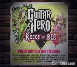 Guitar Hero Encore - Rocks the 80s ROM (ISO) Download for