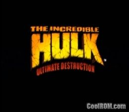 Incredible Hulk, The - Ultimate Destruction ROM (ISO) Download for