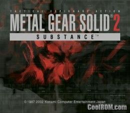 Metal Gear Solid 2 - Substance ROM (ISO) Download for Sony