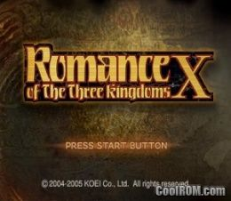 Romance of the Three Kingdoms X ROM (ISO) Download for Sony