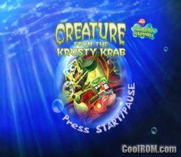 Spongebob Squarepants Creature From The Krusty Krab Rom Iso