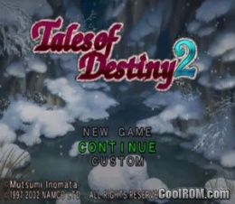 Tales Of Destiny 2 Japan Rom Iso Download For Sony Playstation