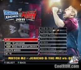 WWE SmackDown vs  Raw 2011 ROM (ISO) Download for Sony Playstation 2