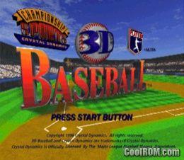 3D BASEBALL ps1