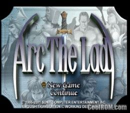 Arc the Lad Collection - Arc the Lad ROM (ISO) Download for Sony