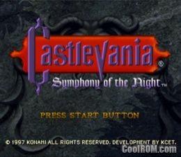 Castlevania symphony of the night rom (iso) download for sega.