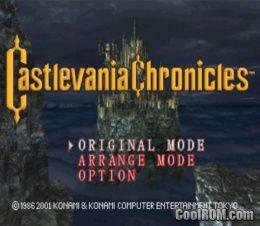 castlevania chronicles rom español