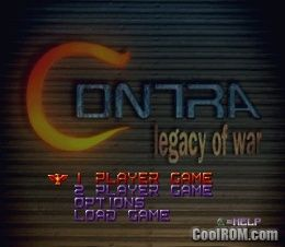 Contra - Legacy of War ROM (ISO) Download for Sony