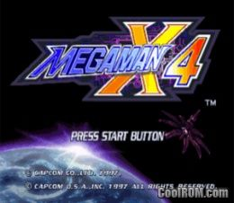 Mega Man X4 ROM (ISO) Download for Sony Playstation / PSX - CoolROM com