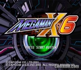 Mega Man X6 Rom Iso Download For Sony Playstation Psx Coolrom Com