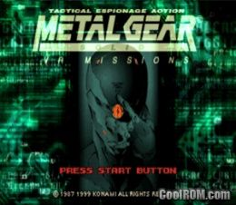 Metal Gear Solid Vr Missions Rom Iso Download For Sony