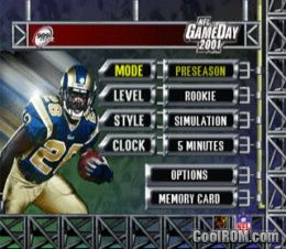 NFL GameDay 2001 ROM (ISO) Download for Sony Playstation