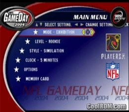 NFL GameDay 2004 ROM (ISO) Download for Sony Playstation / PSX