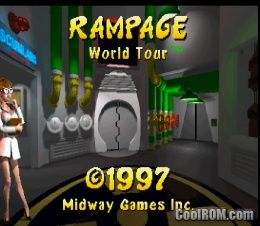 Play Rampage World Tour Online >> Rampage - World Tour ROM (ISO) Download for Sony Playstation / PSX - CoolROM.com