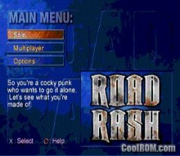 Road Rash - Jailbreak ROM (ISO) Download for Sony Playstation / PSX